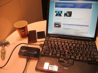 ThinkPad X60sで仕事中